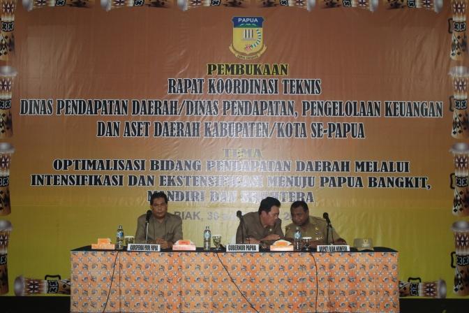 Rakornis Dinas Pendapatan Daerah Kabupaten/Kota Se Papua